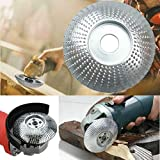 Angle Grinder Disc Wood Tungsten Carbide Grinding Wheel Carving Abrasive Disc Cutter Woodworking Tool for Sanding Carving Shaping Polishing Grinding Wheel Plate 3.3inch