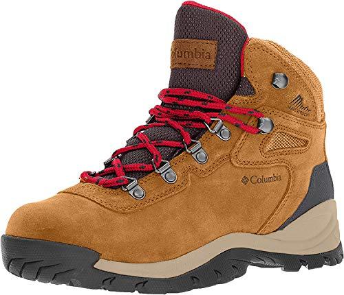 Columbia Women's Newton Ridge Plus Hiking Boot, Elk/Mountain Red, 6 Regular US
