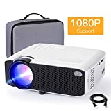 Mini Projector, APEMAN 4000L Brightness 180' Display Projector [Carry Case Included], Support 1080P,...