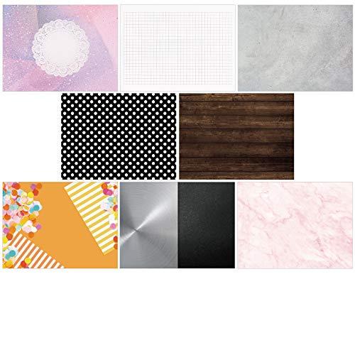 おしゃれな写真用背景紙 スマートスタジオ 8種セット A2サイズ (Industrial&Colorful)