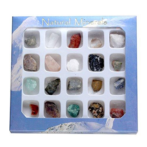 Jovivi 20pcs Rock & Mineral Gemstone Variety Mini Irregular...