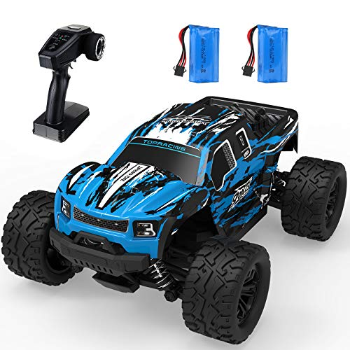 EACHINE RC Off-Road Truck, EC08 1/16 Scale 4x4 Remote Control Car Off-Road Monster Truck Radio Fast 38+ Km/h Electric Vehicle All-Terrain Waterproof High-Speed Dual Motor Trucks for Kids and Adults