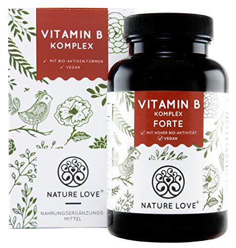 Nature Love® | Vitamine B Complex Forte |180 capsules (6 maanden) | Hoge dosis | Licht verteerbaar