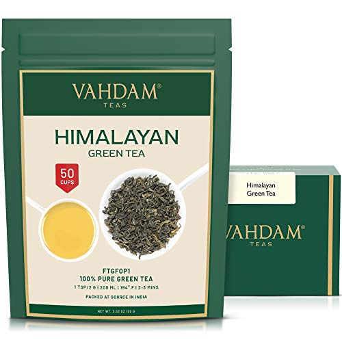 VAHDAM, Hojas de Té Verde del Himalaya (50 Tazas) | 100% NA