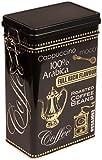 Negro Arabica CoffeeEstilo vintageCaja metlica de almacenamiento para caf/t/Lata rectangular...