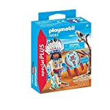 PLAYMOBIL- Special Plus Especial Indio Americano, Color carbón (70062)