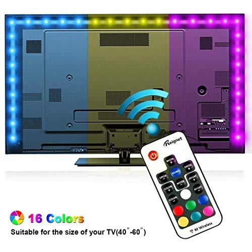 Retroilluminazione TV LED, Reignet da 2m luci polarizzate RGB per HDTV da 40-60 pollici, Striscia...