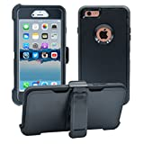 iPhone 6 Plus / 6S Plus Cover   2-in-1 Screen Protector & Holster Case   Military Grade Edge-to-Edge Protection with carrying belt clip   Drop Proof Shockproof Dustproof   Black / Black