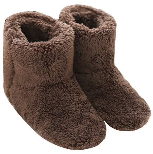 Mianshe 北欧 暖かい もこもこ ルームシューズ 男女兼用 足首まで暖かルームブーツ 冬用 防寒 ボアスリッパ...