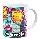 Tasse Personnalisable Tasse a Cafe avec Photo, Tasse Céramique Personnalisée, Photo Coupe Mug promotionnel Blanc [117]
