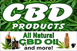 CBD Products Natural Oil 36'x24' Advertising Poster Sign
