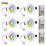 LED Spots Encastrables Orientable GU10 Ampoule RGB Couleur Changement Lampe...