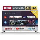 RCA RS65U2 Smart TV (65 pouces 4K Android TV avec Google Assistant, Google Play Store, Prime Video, Netflix) HDMI,USB,WiFi,BlueTooth,Triple Tuner(DVB-C / -T2 / -S2)