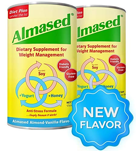 Almased Meal Replacement shakes – Gluten-Free, non-GMO Weight Loss Powder – Vanilla Flavor, 17.6 oz (2 Pack) 1