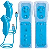 TechKen 2 Pièce Manette de Wii avec Manette Nunchuck,Contrôleur de Wii...