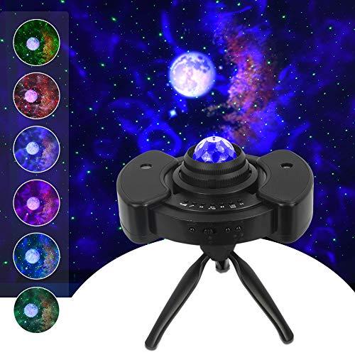 Sternenhimmel Projektor mit verstellbarem Stativ, 5 in 1 Nachtlicht Sternenhimmel mit Mondhimmel Wolke & Ozean, Planetarium Projektor mit Bluetooth Sprecher für Schlafzimmer, Party