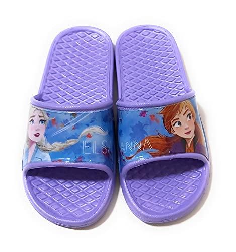 Ciabatte Frozen Elsa e Anna per spiaggia o piscina - Flip-Flop Disney Frozen Anna ed Elsa per bambine Size: 31/32 EU