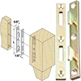 Platte River 130610, 20-Pack,'Hardware, Furniture, Bed Hardware', 6 in Bed Rail Fasteners-Ylo Zinc