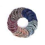 JessLab Cravates Cheveux, 200 Pcs Élastiques Cravate de Cheveux Bandes de...