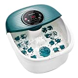 Foot Spa/Bath Massager with Heat, Bulbbles, and Vibration, Digital Temperature Control, 16 Masssage Rollers...