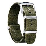 Bracelet de Montre en Nylon NATO Militaire Bandes Remplacements Elastique...