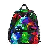 Mochila para niños y niñas Mini Mochila Bolsa de Viaje con Clip para el Pecho Arco Iris Abstracto Invierno Navidad Animal Perro