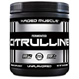 KAGED MUSCLE, Premium L-Citrulline Powder, Enhance Muscle Pumps, Improve Muscle Vascularity, Nitric Oxide Booster, Citrulline, Unflavored, 100 Servings
