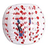 shaofu Inflatable Bumper Ball Dia 4/5 ft (1.2/1.5 m) Bubble Soccer Ball, Human Hamster Ball for Adults/Kids (US Stock) (Red Dot, Dia 4 ft)