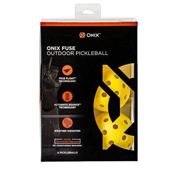 ONIX Fuse Outdoor Pickleball Balls – Six Pack