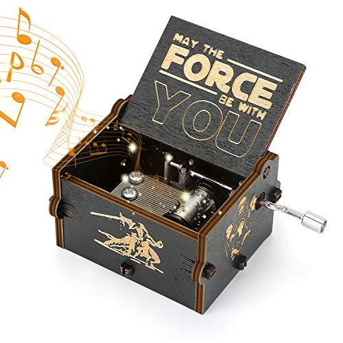 Yideng Holz-Spieluhr mit Handkurbel, Spieluhr mit Basteln Star Wars Thema Klassische Spieluhr Antike...