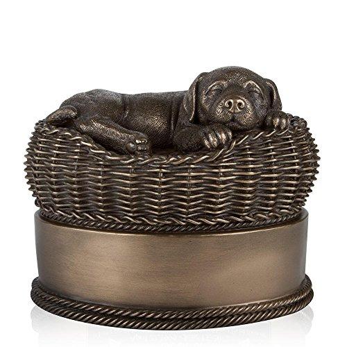 Perfect Memorials Large Bronze Dog in Basket...