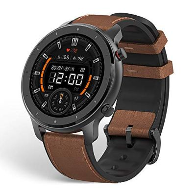 Amazfit GTR Smartwatch, 1.39'' AMOLDED Display 24/7 Heart Rate Monitor, 24 Day Batter Life, 12 Sports Modes(47mm, GPS, Bluetooth), Aluminum Alloy