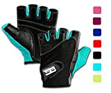 RIMSports Weight Lifting Gloves for Gym - Gym Gloves w/Washable - Ideal Rowing Gloves, Workout Gloves,Crossfit Gloves-Premium Gloves for Core Fitness Dumbbells & Flexibility Machine Turquoise XS