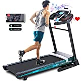 ANCHEER Treadmill, 3.25HP APP Treadmills for Home with 0-15 Automatic Incline, 300LBS Capacity Walking Running Machine and 12 Programs for Home/Gym Cardio Use