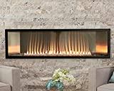 Empire Boulevard 48-In Vent-Free Linear IP Natural Gas Fireplace with Thermostat Variable Remote Control