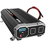 Energizer 2000 watts power inverter, modified sine wave car inverter, 12v to 110v, two AC outlets, two USB ports 2.4A ea, DC to AC converter, battery cables included – UL Certified under 458 by METLab