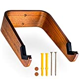 WOKK Wall-Mount Bike Rack: Space-Saving Design with V-Shaped Contact Point and Frame Protection - Hang Bikes Indoors - Bike Hooks for Garage, Mud Room, Apartment - Wooden Wall-Mounted MTN Bike Hanger