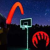 GlowCity Light Up Basketball Hoop Kit with LED Basketball - Aqua Teal, Size 7 Basketball (Official Size)