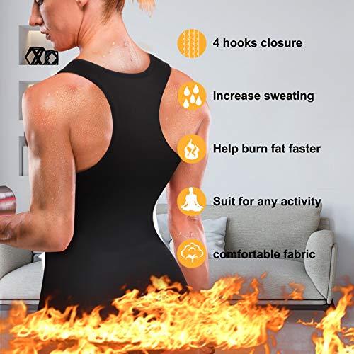 Rolewpy Women Neoprene Waist Trainer Corset Sweat Vest Sauna Body Shaper Cincher Workout Tank Top (Black Sauna Vest, Small (US 4-8)) 3