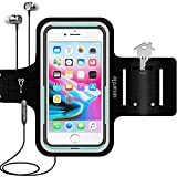 Smartlle Phone Holder for Running, Armband for Cellphone, iPhone 12/12 Pro/12 Pro Max/11/11 Pro Max/XR/XS Pro Max/8 7 6s Plus, Samsung Galaxy A/S/Note, LG, Moto, Up to 6.9'', for Gym, Workout-Black