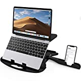 Dyazo Adjustable Laptop Stand Riser Ventilated Portable Foldable Compatible with MacBook Notebook (12 Inch /13 Inch /14.1 Inch /15.6 Inch Laptops)