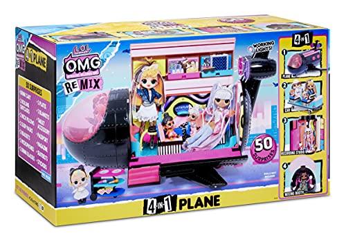 Image 14 - LOL Surprise OMG Avion Remix 4-en-1 - Avec 50 surprises - Se transforme en Avion, Voiture, Studio d'enregistrement et Salle de mixage