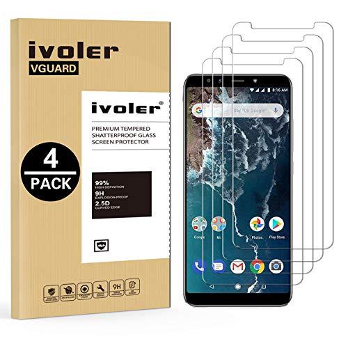 iVoler [4 Pack] Pellicola Vetro Temperato per Xiaomi Mi A2 [Garanzia a Vita], Pellicola Protettiva, Protezione per Schermo