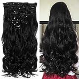 'Never País Beauty 22Full de cabeza de clip en el pelo de verlangerungen Ombre Wavy Curly DIP Dye...