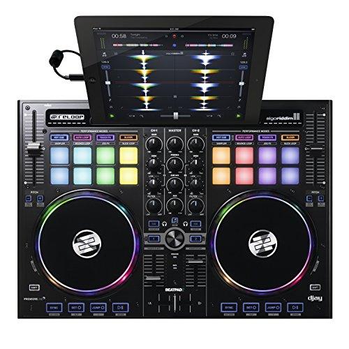 Reloop Beatpad 2 Controllore DJ con jogwheel per IOS, Android e Laptop, Corrente alternata, USB Type-B, Nero
