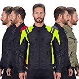 Viking Cycle Ironborn Protective Textile Motorcycle Jacket for Men - Waterproof, Breathable, CE Approved Armor for Bikers (Green, Large)