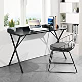 Aingoo Computer Writing Desk 47'' Simple Study Desk for Home Office Modern PC Laptop Desk Table with Metal Frame Black