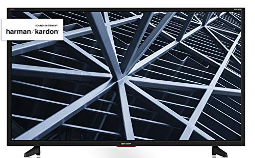 Sharp Aquos LC-32BB5E - 32' HD Ready LED TV, DVB-T2/S2, 1366 x 768 Pixels, Nero, suono Harman...