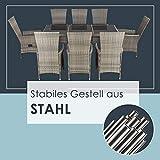 ArtLife Polyrattan Sitzgruppe Rimini Plus 9-teilig grau-meliert Gartenmöbel Set mit Tisch 8 Stühlen Kissen - 6