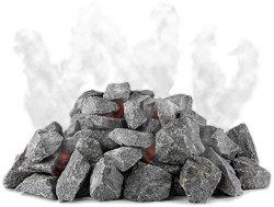 SULENO Original finnische Saunasteine 20kg Olivindiabas Aufgusssteine Dampfstein für Saunaofen Elektroofen Holzofen
